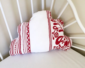 Cloud Cushion // Red And White // Nursery, Bedroom // Ready To Ship