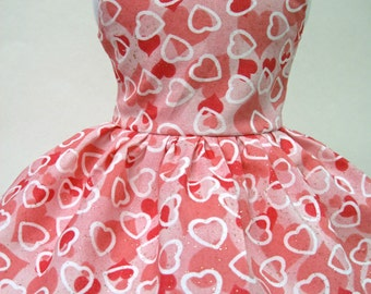 Hearts on Hearts, Valentine's Day Sleeveless Dress for Your American Girl Doll