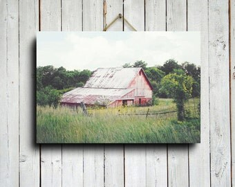 Country Barn - Red Barn photography - Old Barn photography - Old Barn - Old Barn art - Country decor - Country photography - Red Barn