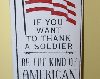 Custom plaque - Thank a Soldier