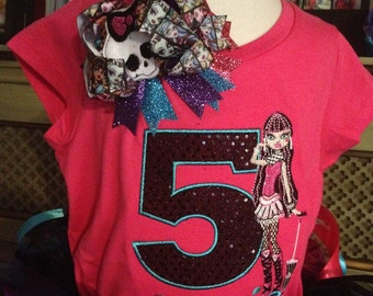 Draculaura Birthday shirt/Bow