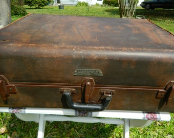 Vintage Samsonite Luggage Large Samsonite Shwayder Bros Suitcase Travel Home Decor