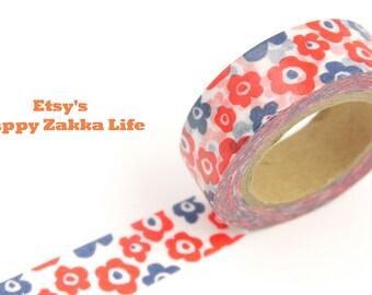 Scandinavia Flora Pattern - Japanese Washi Masking Tape - 11 Yards