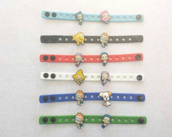 10 Bubble Guppies  Silicone Charm Bracelets