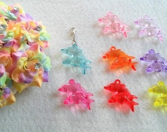10 Multicolors Dolphin Party Favors.