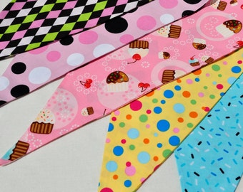 12 Foot Reversible Multi-Patterned Cotton Bunting/Pennant Strand