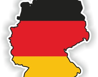 Germany Map Flag Silhouette Sticker for Laptop Book Fridge Guitar Motorcycle Helmet ToolBox Door PC Boat
