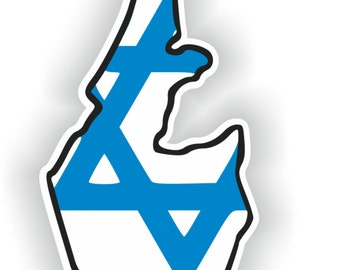 Israel Map Flag Silhouette Sticker for Laptop Book Fridge Guitar Motorcycle Helmet ToolBox Door PC Boat