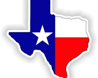 Texas Map Flag Silhouette Sticker for Laptop Book Fridge Guitar Motorcycle Helmet ToolBox Door PC Boat