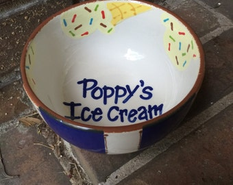 Personalized ice cream bowl!!