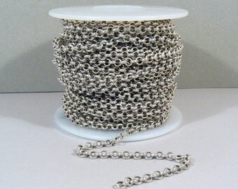 10% OFF 10ft Rolo Chain - Antique Silver - CH12