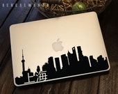 上海天际线 Shanghai Macbook Decal with Chinese | Macbook Sticker | Laptop Decal | Laptop Sticker | Car Sticker