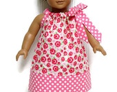 18 inch Doll Clothes Pillowcase dress Valentine Lovey Roses 15 inch Doll Clothes