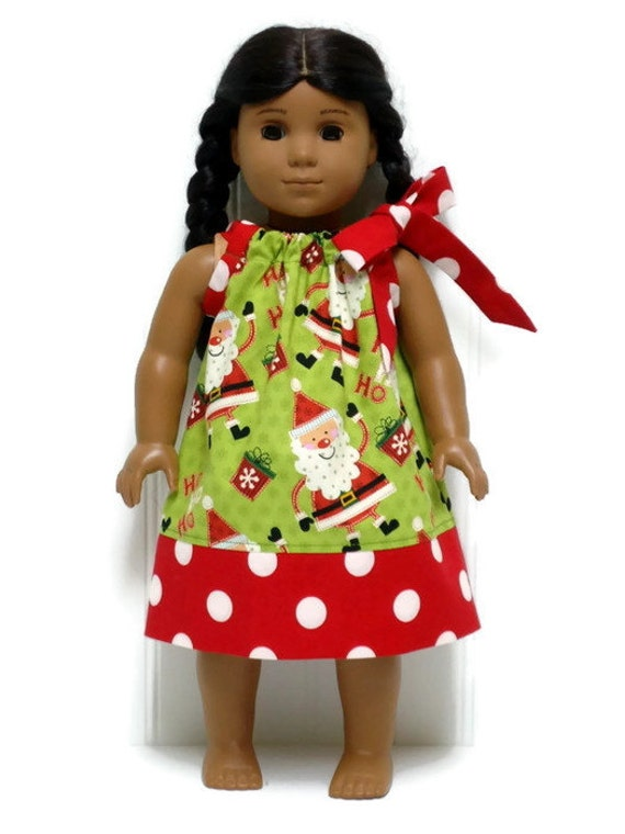 Inch doll clothes christmas pillowcase dress santa ho
