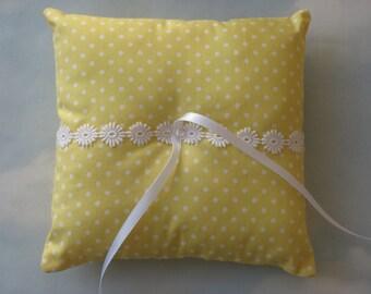 Wedding ring cushion. Summer wedding ring pillow