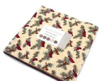 CARDINAL REFLECTION FLANNELS 6640Lcf Moda Layer Cake Holly Taylor cotton fabric 42 10 inch squares