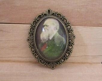 Charles Darwin Brooch
