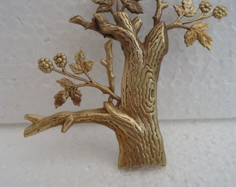 Brass Stamping Magical Tree Brooch