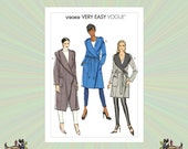 Vogue Coat Pattern with Pockets, Belt and Hood, Reversible Jacket, Plus Size 16-18-20-22-24-26, Vogue Sewing Pattern 9069
