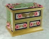 Fabric Covered Jewelry Chest