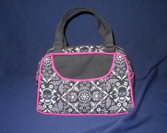"Handmade Vintage Inspired Donna Purse, Swoon Patterns, Alexander Henry ""Badana"" Fabric"