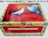 Vintage Cigar Box . Built up your Guitar with art woks . Five art to choose
