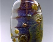 PURPLE SPARKLES  - Freeform Lampwork Focal Bead - Handmade Jewellery Supplies - by Stephanie Gough sra fhfteam leteam