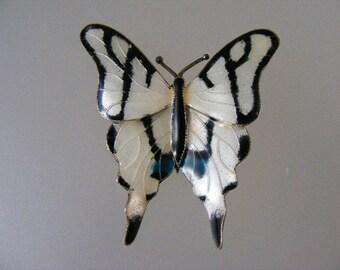 SALE...Was 37.75...Now 18.75.....Vintage Enamel Butterfly Pin..... Lot 4539