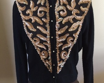 Exceptional Illusion & Sequin Cardigan by Rosanna