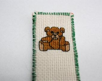 teddy bear Bookmark cross stitch