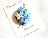 Forget me not large single magnet Thank you teacher gift.