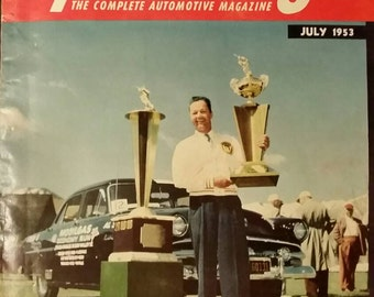 July 1953 Speed Age The Complete Automotive Magazine ~ Vintage 1950s Auto Car Hot Rod Racing
