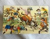 Alfred Mainzer Postcard #4952 - Ride 'em Cowboy Rodeo Western cat theme Anthropomorphic