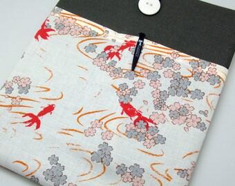 SALE - iPad Air case, iPad cover, iPad sleeve with 2 pockets, PADDED - Goldfish (197)