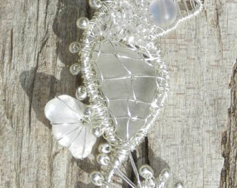 Beach Glass Seahorse Necklace