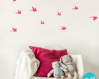 Peel and Stick Small Flying Birds Wall Decal | Long Life | Apartment Safe - PAS053