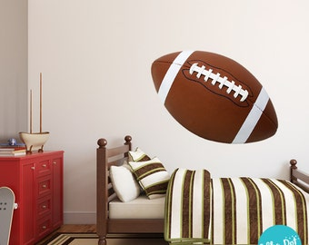 Football Wall Decals | Long Life | Apartment Safe   PRN010