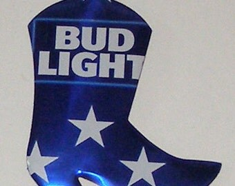 WESTERN BOOT Magnet - Bud Light Beer Can (Replica)