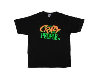 Rare 1990 Neon Paramount Crazy People Movie T-Shirt - XL