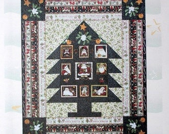 Christmas Wall Quilt PATTERN, Santa's Got the Goods by Quilted Kimono, Quiltsy Destash Party
