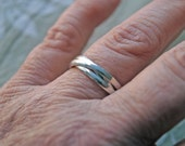 Cartier ring, Cartier Trinity ring, three rings, three ring, Sterling silver band, three bands, rolling ring, Cartier bague,