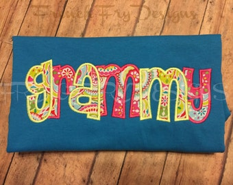Grandmother Brag applique shirt for GRAMMY Customized and Personalized