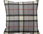 Large Plaid Pillow Covers,Flannel Grey Pillows,Neutral Couch Pillows,Decorative pillows,Throw Pillow,Holiday Christmas Fall Pillows