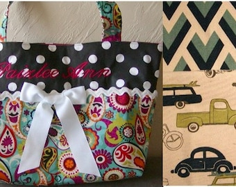 Diaper bag, handbag, purse, book bag..Old Cars..Add a Name. Customize yours now.