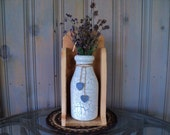 Cedar Sconce And Milk Jug / Wood Sconce / Sconce Wall Decor / Country Decor / Milk Jug / Wooden Sconce / Country Wall Hangings