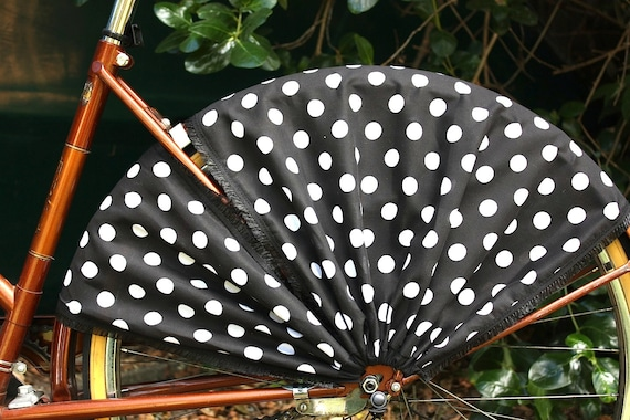Bicycle Skirt Guard 'Polka Dot'. Bike skirt guard, cruiser bicycle, bicycle, cycling, bicycle accessories, cruiser accessories