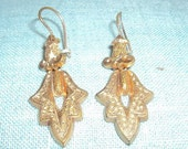 Victorian Gold Wash Earrings