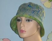 Chemo Hats Bucket Hats Alopecia Hats Handmade in the USA.  Gorgeous Batiks  ( For Size Guide, see 'Item Details' below photos)MEDIUM/LARGE