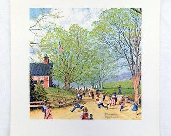 Vintage Norman Rockwell Carefree Days Ahead Childhood Treasures Series Print 3