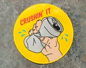 Large Crushin' It Patch / Embroidered / Badge / Jacket Back Patch / Beer Drinking / Winning Every Day